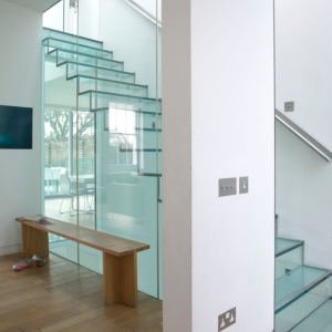 Glass stair case
