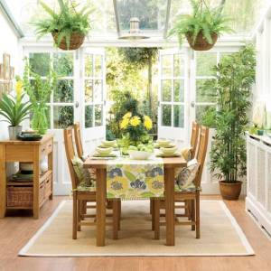Tropical conservatory room