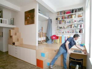 Split level room