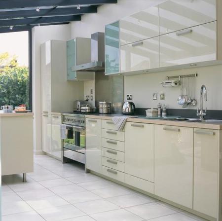 Hi-gloss kitchen