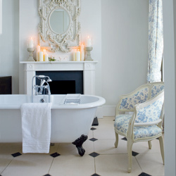 Bathroom with fire place