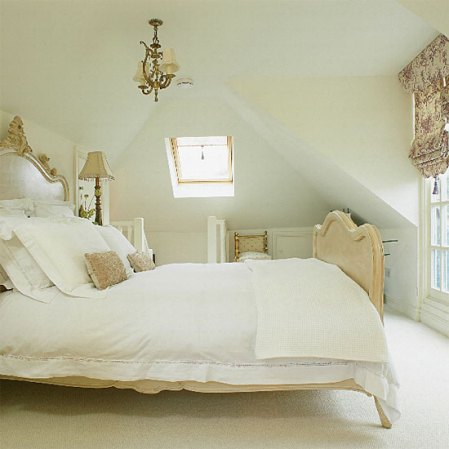 French-style loft bedroom