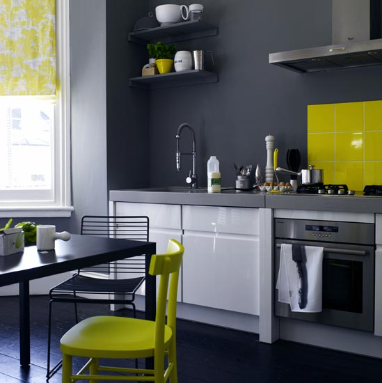 Kitchen Colors Color Schemes And Designs: Color+Inspiration: Yellow+Gray