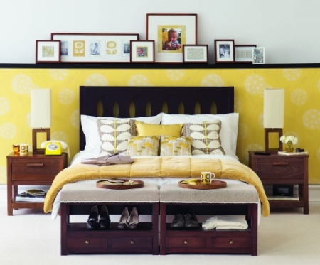 Yellow retro bedroom set