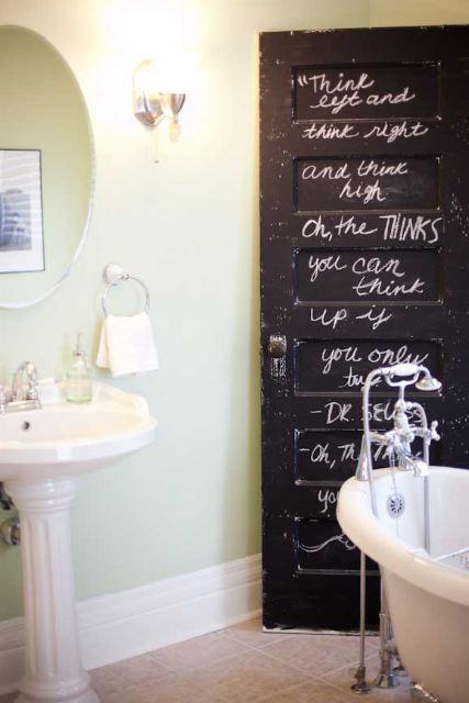 chalk board door - housetohome