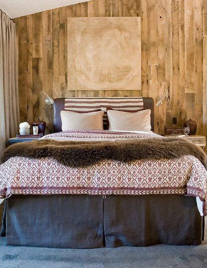 roomenvy - log cabin bedroom decorating idea