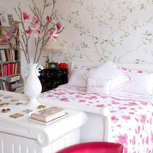 roomenvy - ditsy florals bedroom
