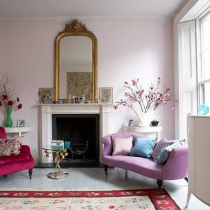 roomenvy - pretty in pink living room