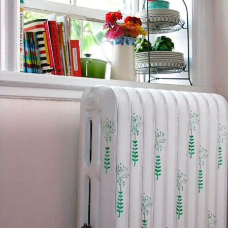 roomenvy - turn up the heat with a colourful stencil