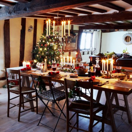 roomenvy - country cottage Christmas dining room