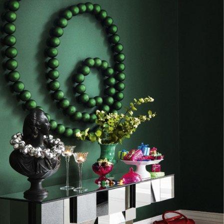 roomenvy - swirly bauble Christmas hallway