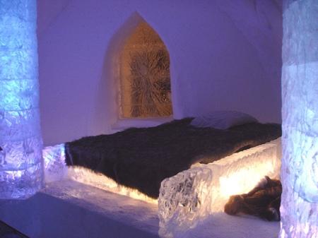 roomenvy - surprisingly cosy ice bedroom