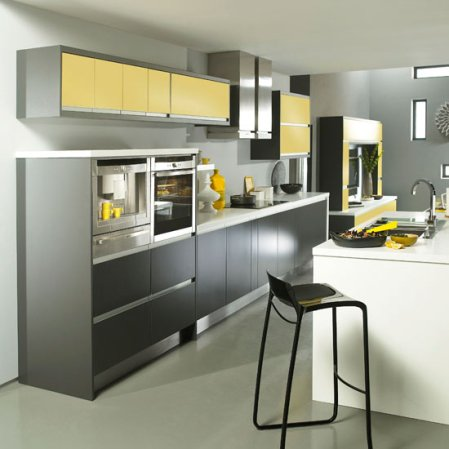 roomenvy - city chic kitchen with a splash of sunshine
