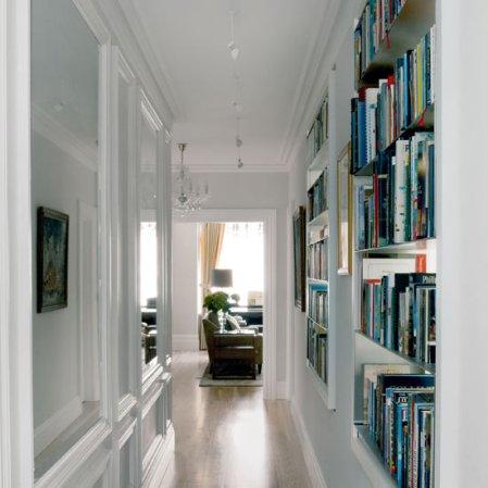 roomenvy - hallway book shelving idea