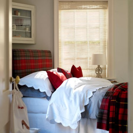 roomenvy - pretty plaids bedroom