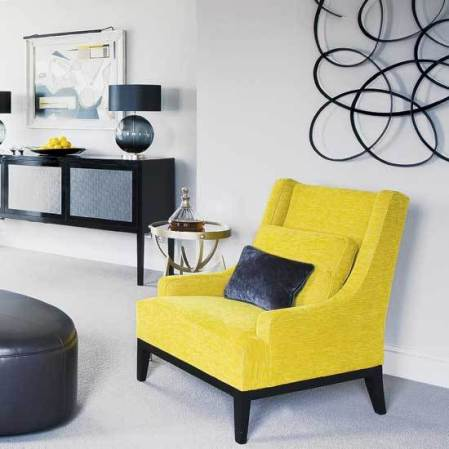 room envy - liven up a monochrome scheme with zesty yellow