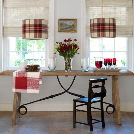 roomenvy - stylish tartan lighting dining room