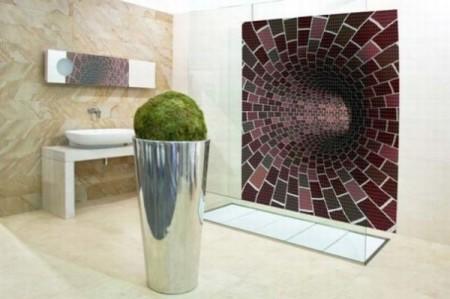 roomenvy - futuristic mosaic bathroom