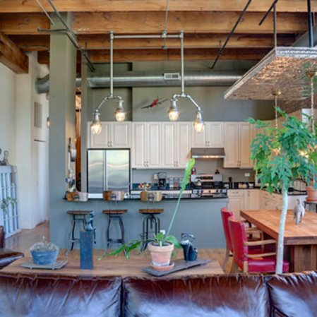 roomenvy - rustic meets industrial kitchen-diner