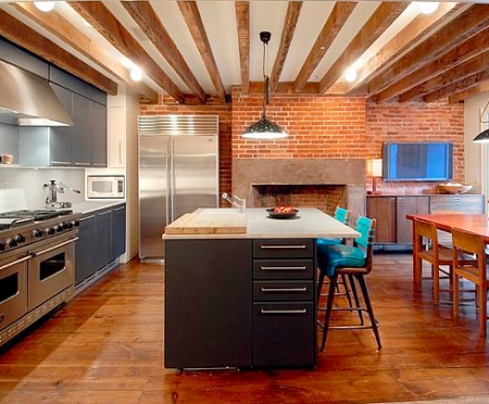 roomenvy - beams open-plan kitchen