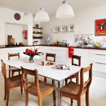roomenvy - white and wooden kitchen