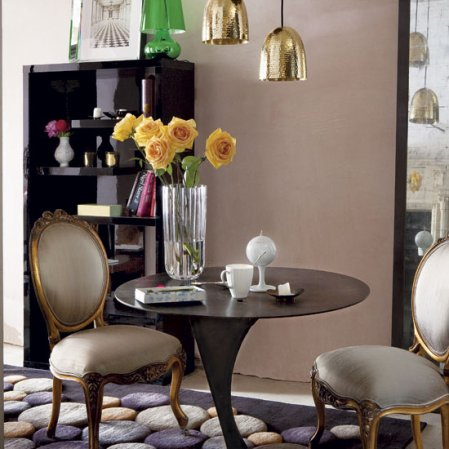 roomenvy - wrought iron accents dining room