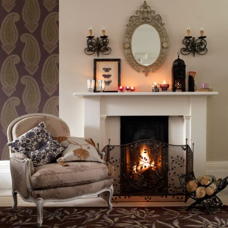 roomenvy - ornate living room fireplace