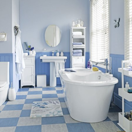 roomenvy - fresh blue bathroom