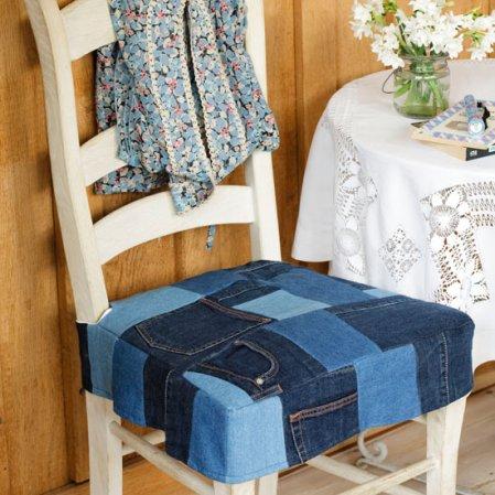 roomenvy - denim patchwork seating