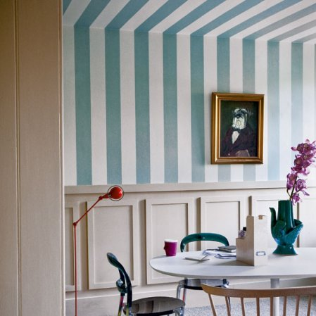 roomenvy - ceiling stripes dining room