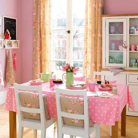 roomenvy - chalky pink dining room