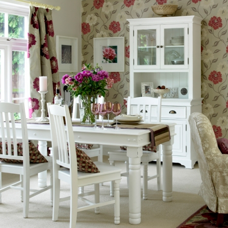 roomenvy - pink and white country dining room