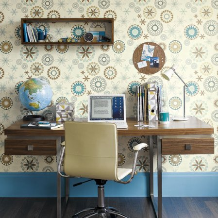 roomenvy - seventies swirls home office