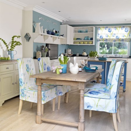 Roomenvy - green and blue kitchen-diner