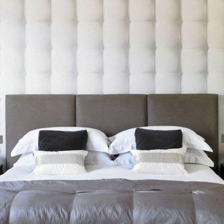 roomenvy - brick wallpaper bedroom