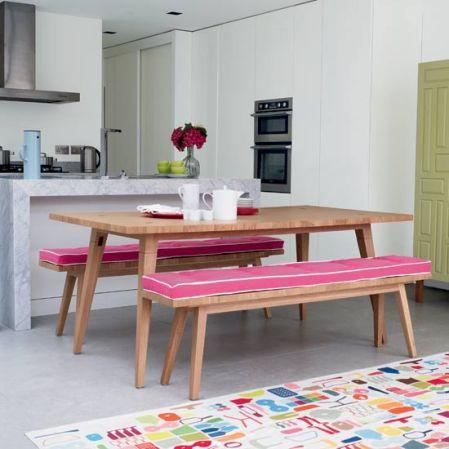 roomenvy - shot of pink kitchen-diner