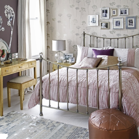 roomenvy - metallic bedroom decorating idea