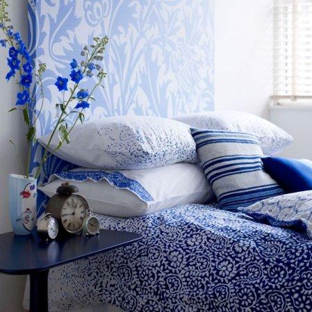 roomenvy - blue patterns bedroom