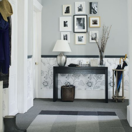 roomenvy - grey and charcoal hallway