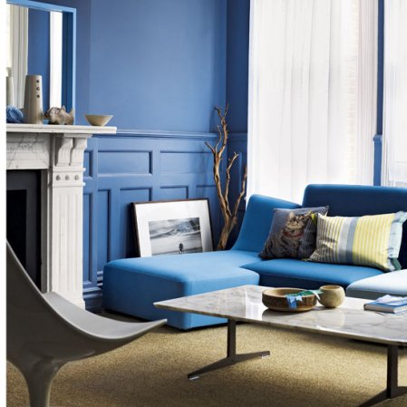 roomenvy - blue decorating ideas for living rooms