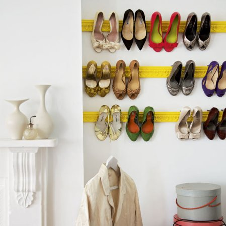 roomenvy - shoe storage wall feature