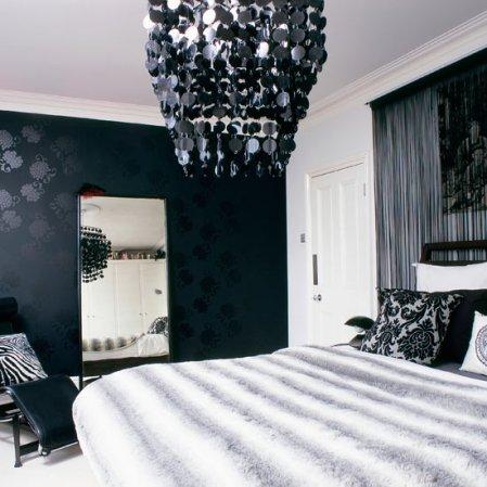 roomenvy - black wallpaper bedroom