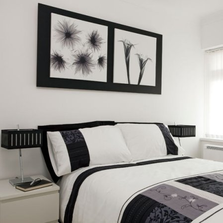 roomenvy - contemporary black and white bedroom