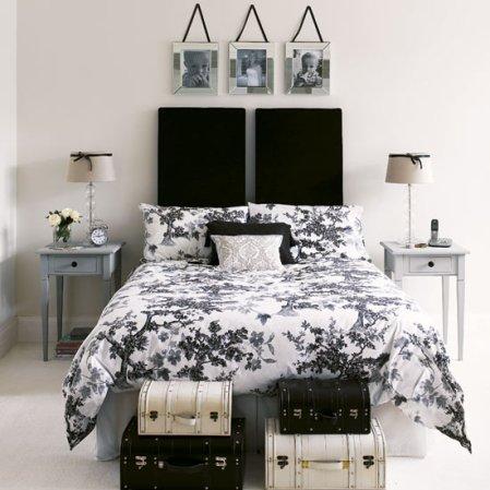 roomenvy - monochrome bedroom scheme