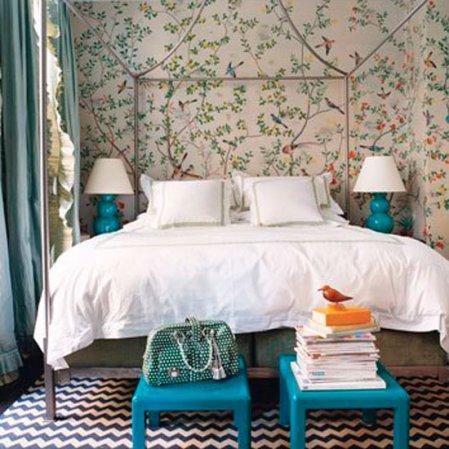 roomenvy - bird bedroom wallpaper