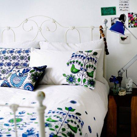 roomenvy - tweeting bedroom bedlinen