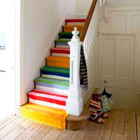 roomenvy - colourful staircase hallway