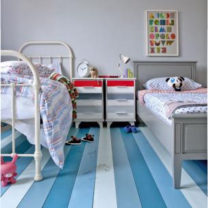 roomenvy - striped flooring children's room