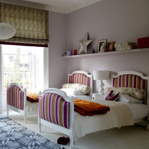 roomenvy - twin kids' bedroom with smart upholstery