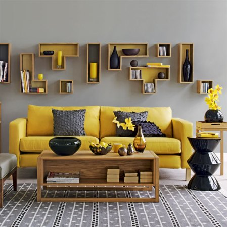 roomenvy - yellow accents living room